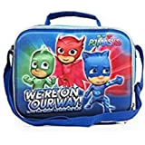 PJ Masks Zoofy Little Heroes 3D Blue Lunch Bag with Strap for Kids