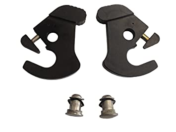 Rotary Latch Cam Lock Kit for Harley Davidson Detachable Side Plates Luggage Racks Tour Pack Racks Black