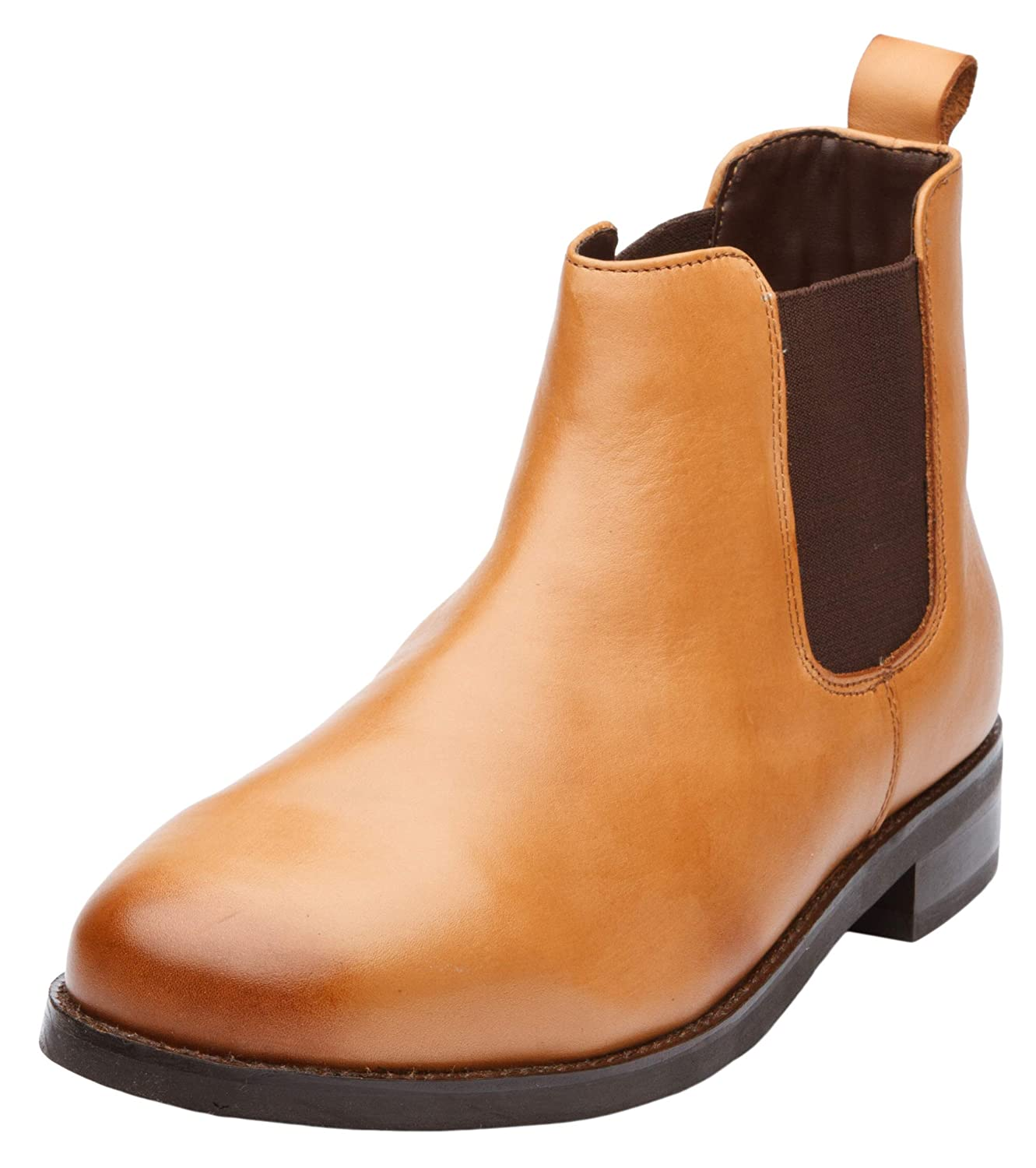 Dapper Shoes Co. Men's Classic Handcrafted Leather Chelsea Boots