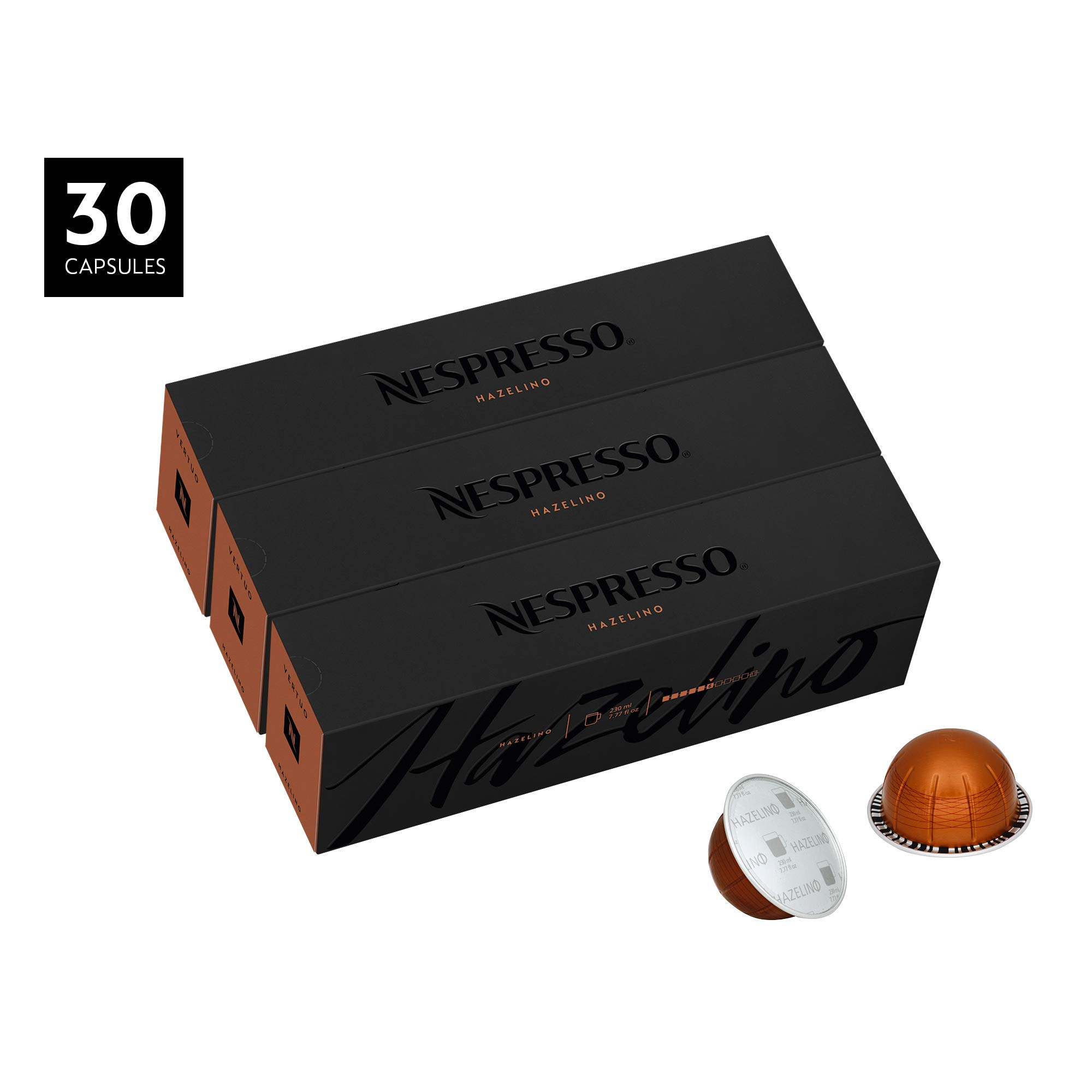Nespresso VertuoLine Coffee, Hazelino, 30 Capsules