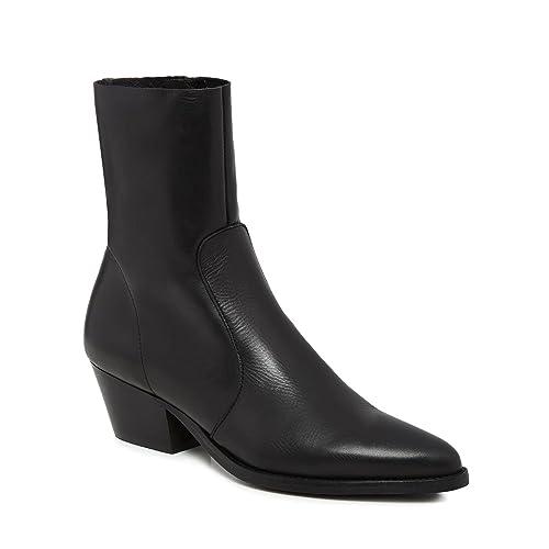 a69b1ac7ca6 Debenhams Faith Womens Black Leather  Bink  Mid Block Heel Ankle ...
