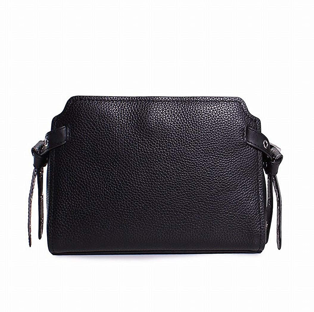 Amazon.com  Michael Kors Bristol Pebbled Leather Medium Messenger Handbag  in Black  Clothing b9514e6a3a520