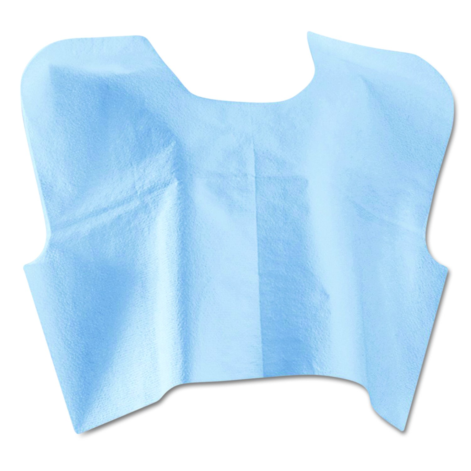Medline NON25249 Disposable Patient Exam Capes, 3-Ply, Tissue/Poly/Tissue, 30w x 21l, Blue (Case of 100)