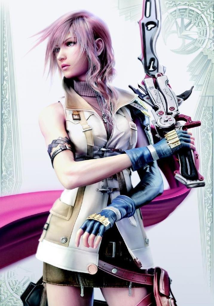 Final Fantasy Card Sleeve Lightning by Hobby Japan