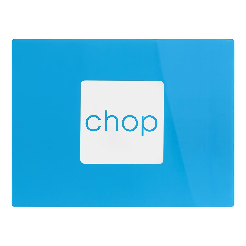 Premier Housewares Glass Chopping Board - Blue 1203540