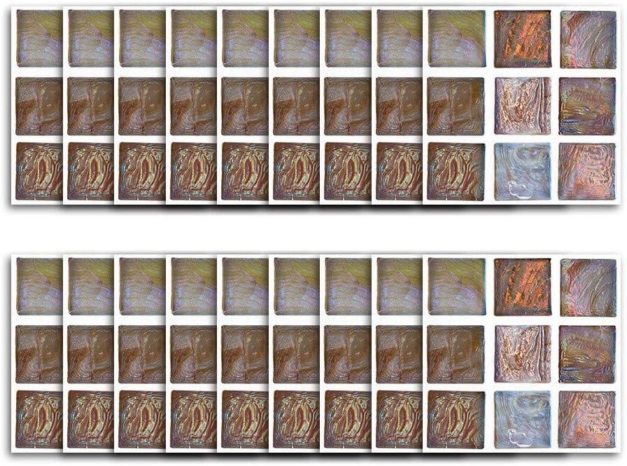 Rameng 18Pcs Mosa/ïque Carrelage Mural Autocollants Carrelage Stickers Carrelage Cuisine et Salle de Bains A