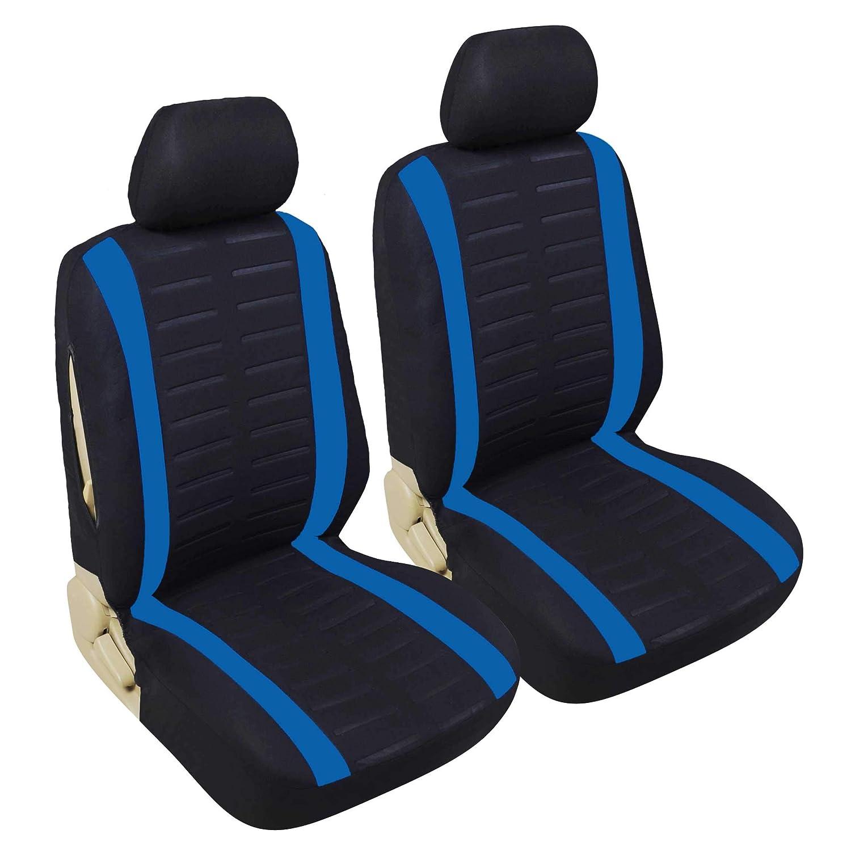 Upgrade4cars Auto-Sitzbez/üge Vordersitze in Schwarz Auto-Sitzbezug Set Universal f/ür Fahrersitz und Beifahrer mit Seitenairbag /Öffnung Auto-Zubeh/ör Innenraum