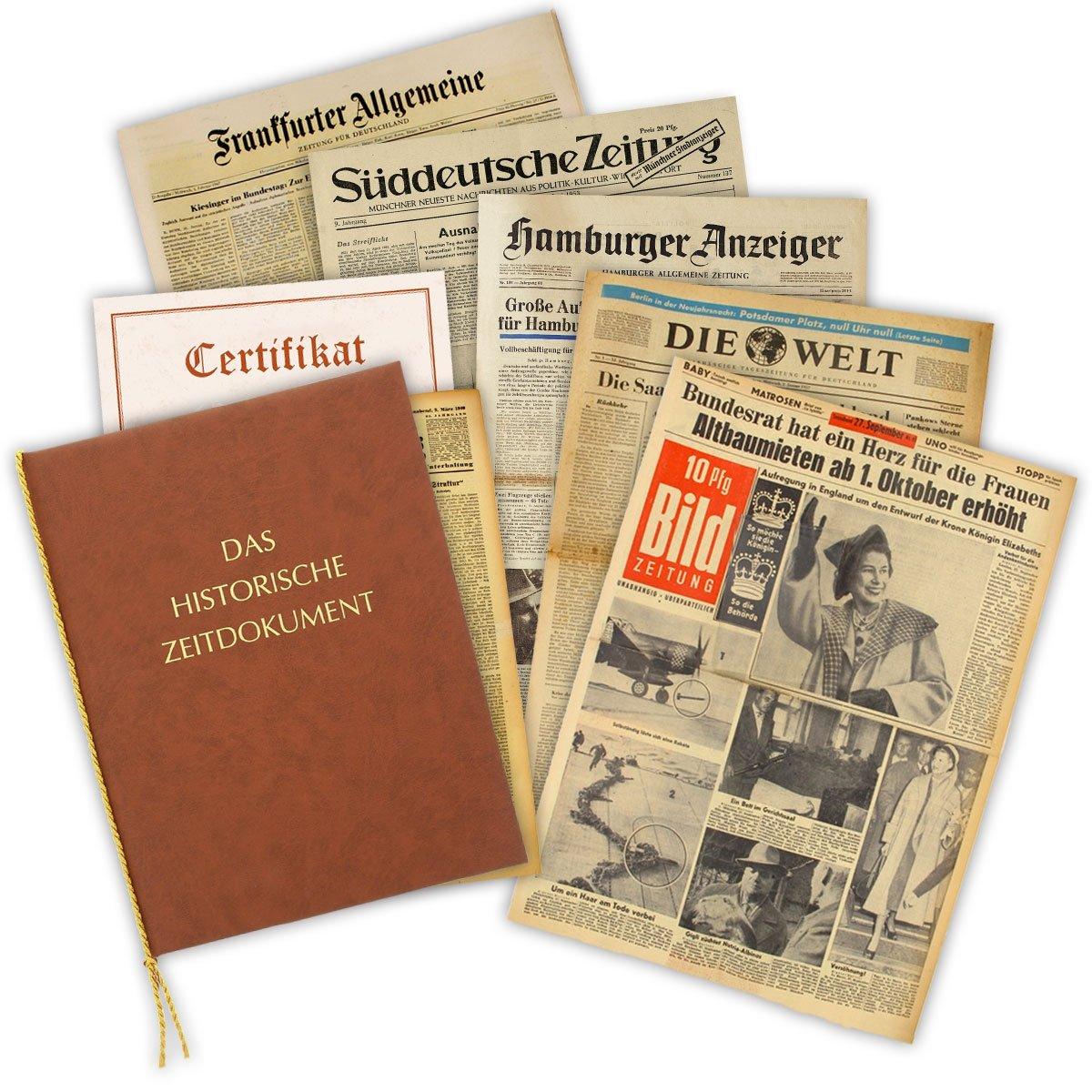 Zeitung vom Tag der Geburt 1939 - historische Zeitung inkl. Mappe & Zertifikat als Geschenkidee Bild