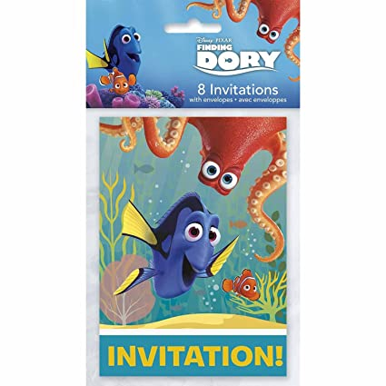 fd1acb2e561 Amazon.com  Finding Dory Party Invitations  8 Per Pack   Toys   Games