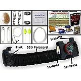 THE #1 BEST : Paracord Bracelet Emergency kit Survival Tool Emergency kit Upgraded Holtzman's