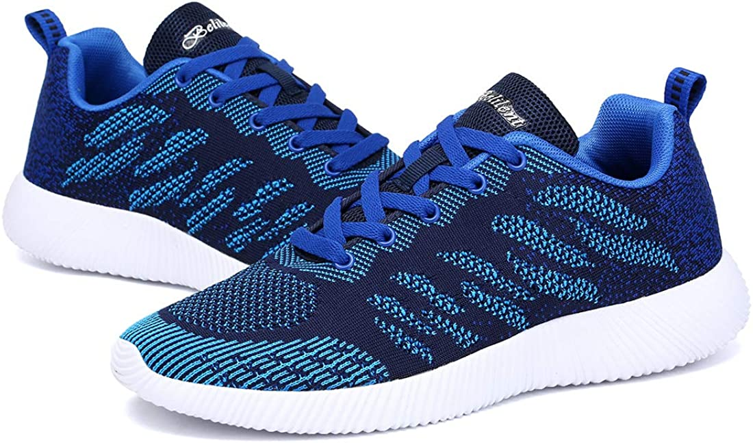Mesily Chaussures Homme Femme Baskets Antidérapantes Sneakers Casual per Marche Courir Running Gym Fitness Bleu 062