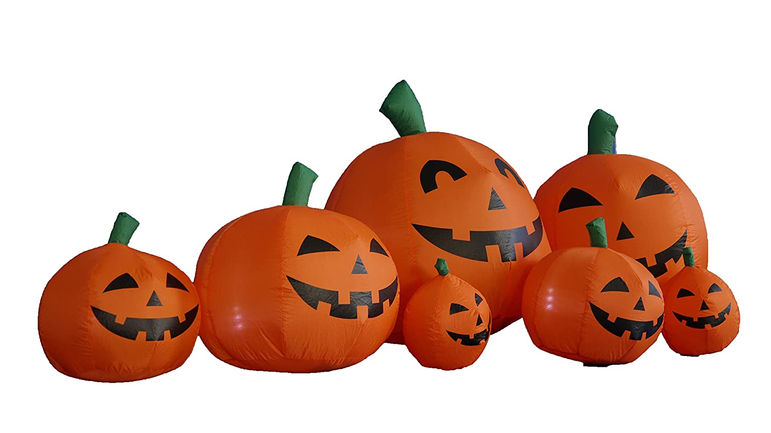 Amazon.com: 7.5 Foot Long Halloween Inflatable Pumpkins Yard ...