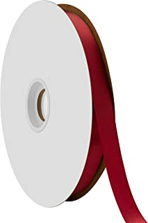 "product image for Offray Berwick 5/8"" Single Face Satin Ribbon, Sherry Red, 100 Yds"
