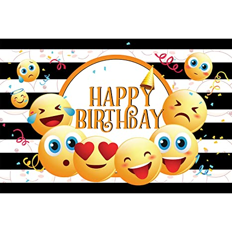 Party Propz Emoji Backdrop Wallpaper 4ft By 6ft For Theme Birthday Decoration Amazonin Toys Games