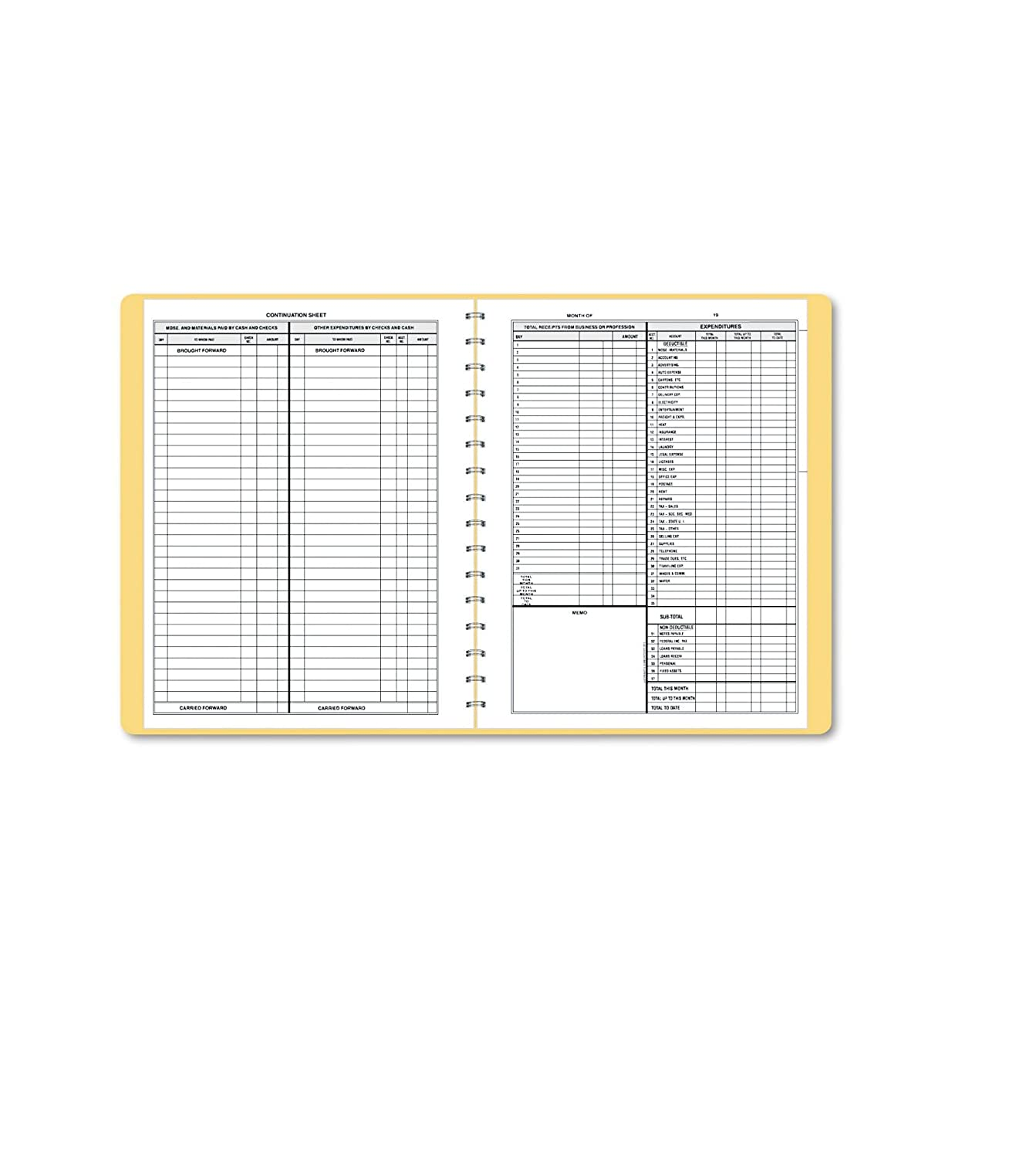 Dome 612 Monthly Bookkeeping Record with Tan Cover