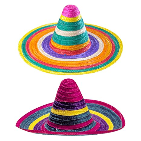Sombrero mexicano de paja contorno Multicolour sombrero del verano sombrero  del partido de carnaval de México 083fdce6e0e