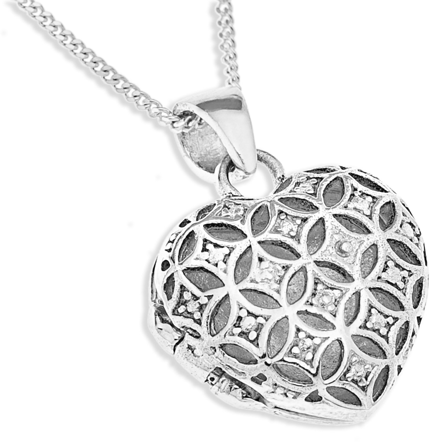 Ornami sterling silver filigree heart locket 46cm chain amazon ornami sterling silver filigree heart locket 46cm chain amazon jewellery aloadofball Image collections