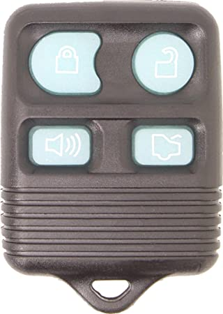 Black KeylessOption Glow in the Dark Replacement 4 Button Keyless Entry Remote Control Key Fob