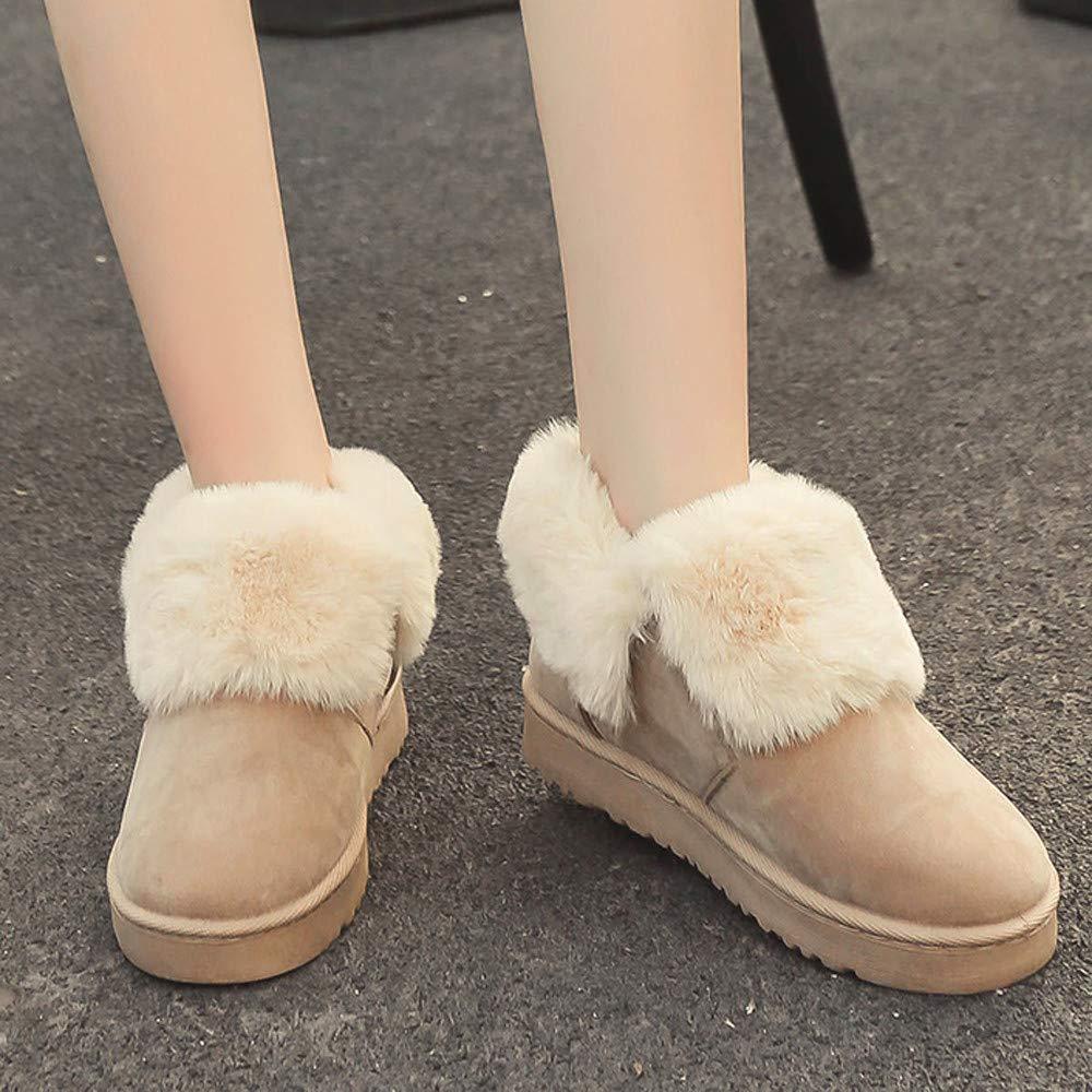 ❤ Zapatillas de Nieve para Mujer, Botines de Invierno de Felpa para Mujer Botas de Nieve Zapatos de Invierno Mantenga cálidas Botas con Cremallera ...