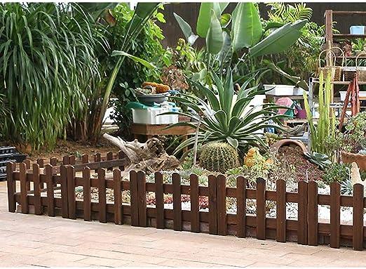 Valla 4 Piezas de Carbono Madera Jardín anticorrosivo de Pino al Aire Libre del césped de Reparto Partido de la decoración de la Boda del árbol de Navidad: Amazon.es: Hogar