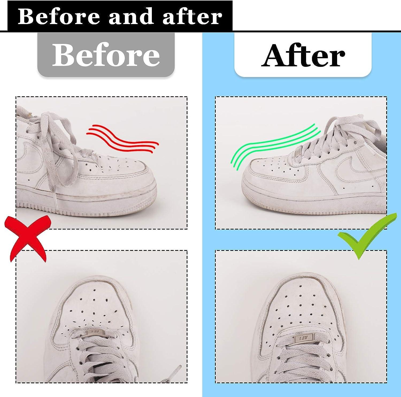Sneakers Shield Pr/évenir les marques de chaussures 2 sacs /à chaussures 2 Paires Boucliers de Chaussures 4 en 1 Kardition Shoe Shields Kit 2 brosses /à chaussures 8 Comprim/és d/éodorant anti-pli
