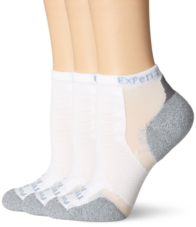 Thorlos Experia Unisex XCCU Multi-Sport Thin Padded Low Cut Sock, White (3 Pack), Medium