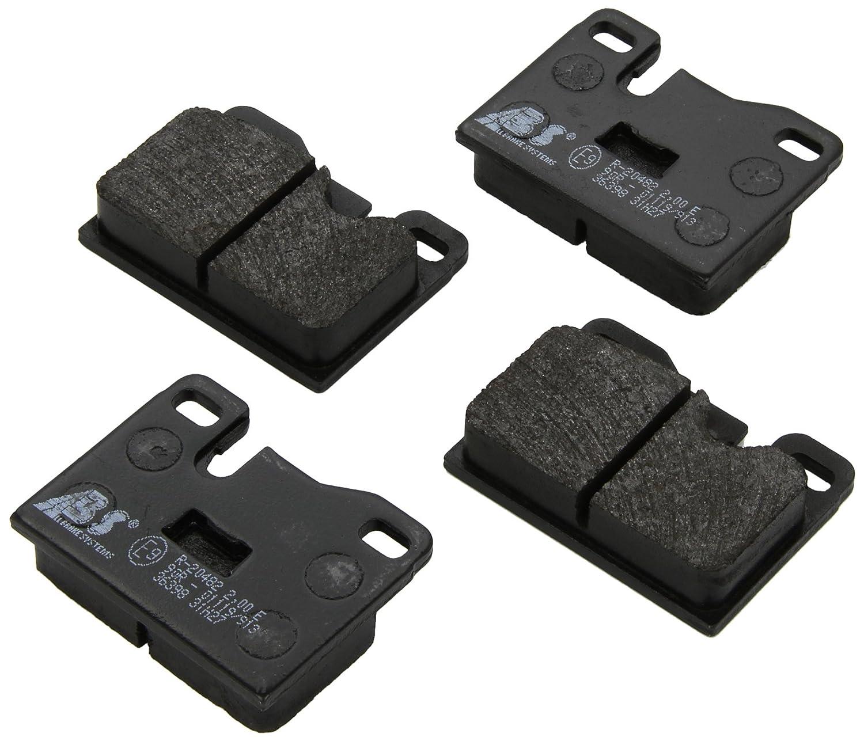 4-teilig Scheibenbremse ABS 36398 Bremsbelagsatz