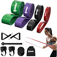 IPOW Resistance Bands Set 11 PCS Pull Up Assist Bands Multi-Use Loop Bands Kit with Handles Ankle Straps Door Anchor…