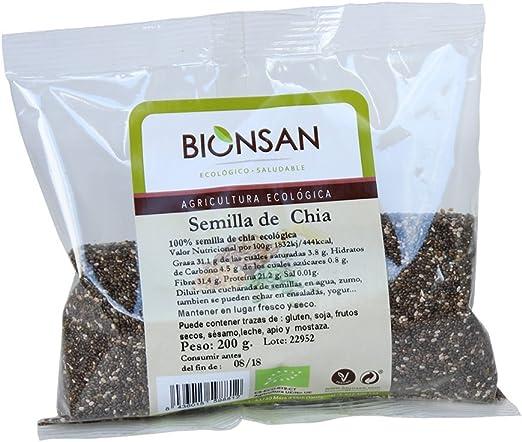 Bionsan Semillas de Chía Ecológicas 200 gr: Amazon.es: Alimentación y bebidas