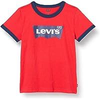Levi's Kids Camiseta blanco para Niños - Lvb Batwing Ringer Tee