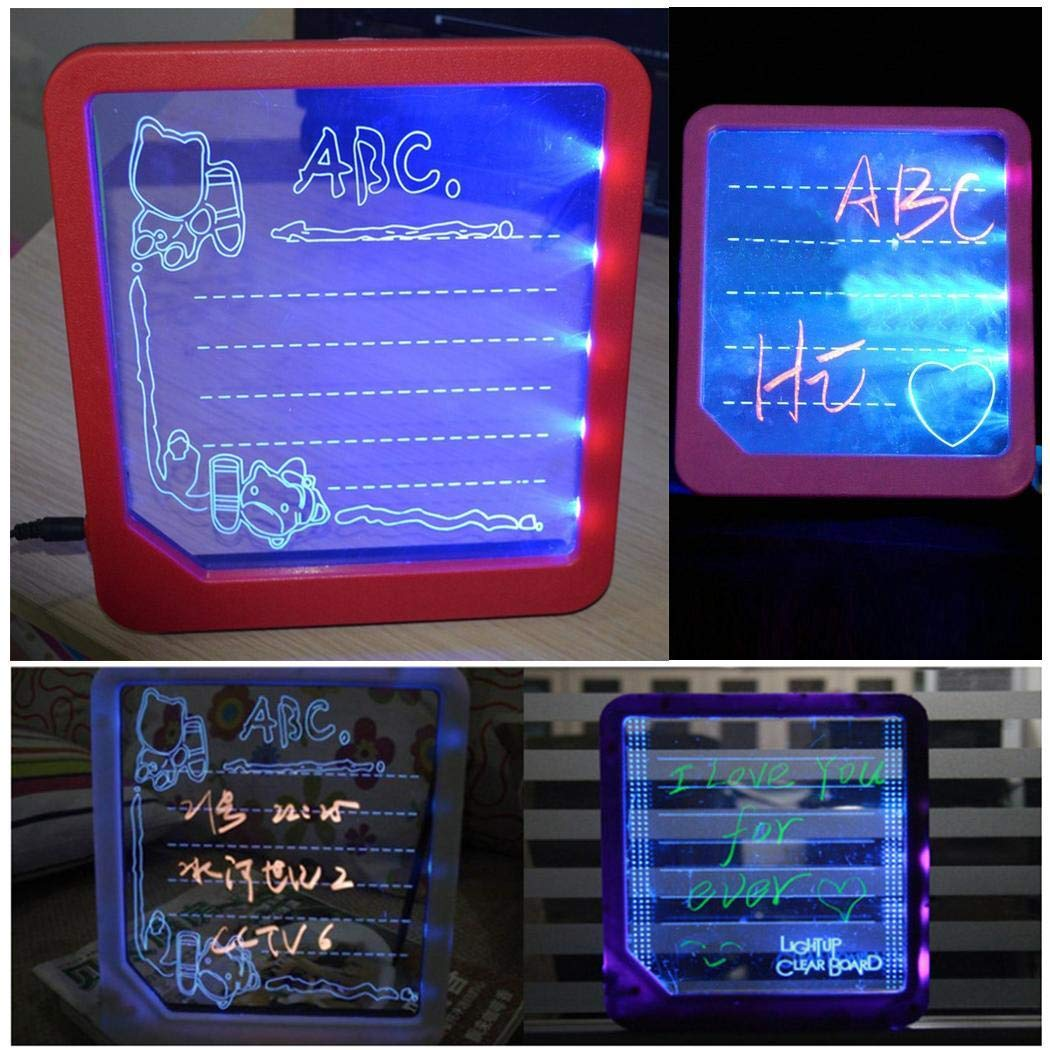 ThinIce LED Light Writing Board Drawing Tablet Message Note Toy Gift Backlit LED Message Board Message Chalkboard
