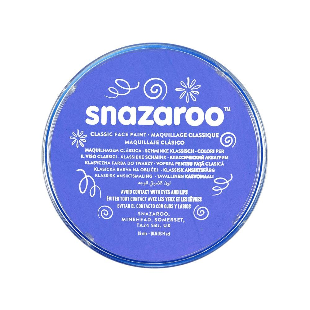 Snazaroo Classic Face Paint, 18ml,Sky Blue