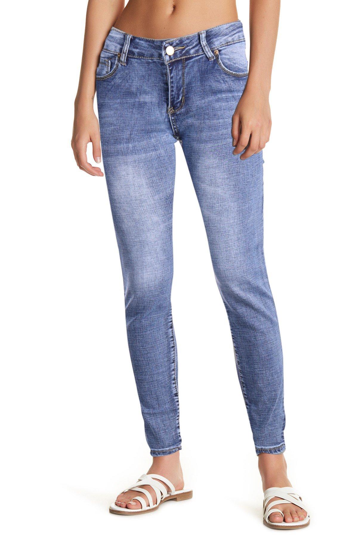 WuhouPro Super Comfy Stretch Denim Jeans AZ 1204 M.Blue 14