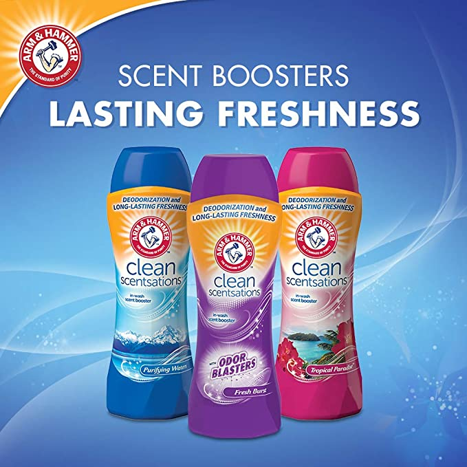 Amazon.com: Arm & Hammer Clean Scentsations In-Wash Freshness Booster, Odor Blaster, 37.8 Ounce: Health & Personal Care
