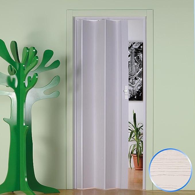 Forte Puerta Plegable de Interior de PVC Pino Blanqueado 83x214 cm Mod.Maya: Amazon.es: Hogar