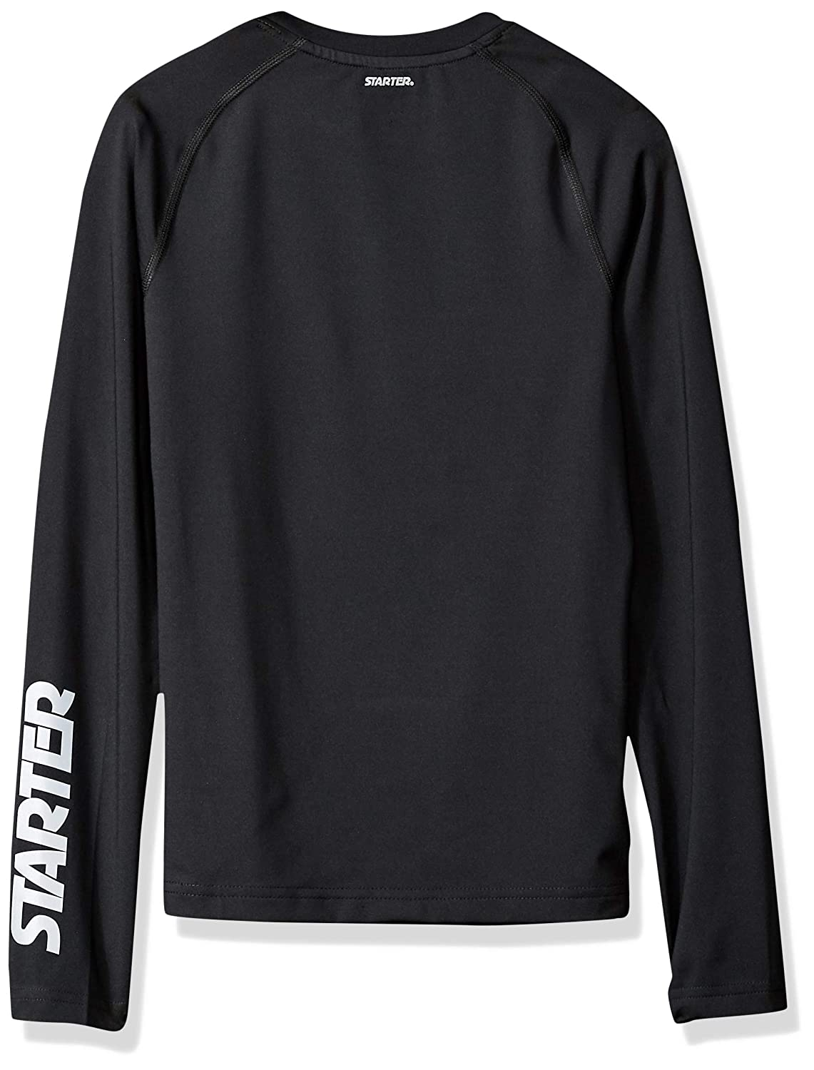 d768ce8d Amazon.com: Starter Boys' Long Sleeve Logo Light-Compression Athletic T- Shirt, Amazon Exclusive: Clothing