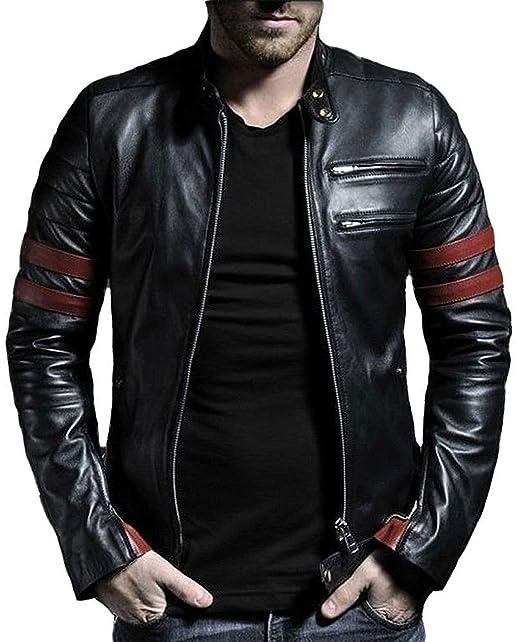 Amazon.com: Aries Leathers Hombres Reales de piel de cordero ...
