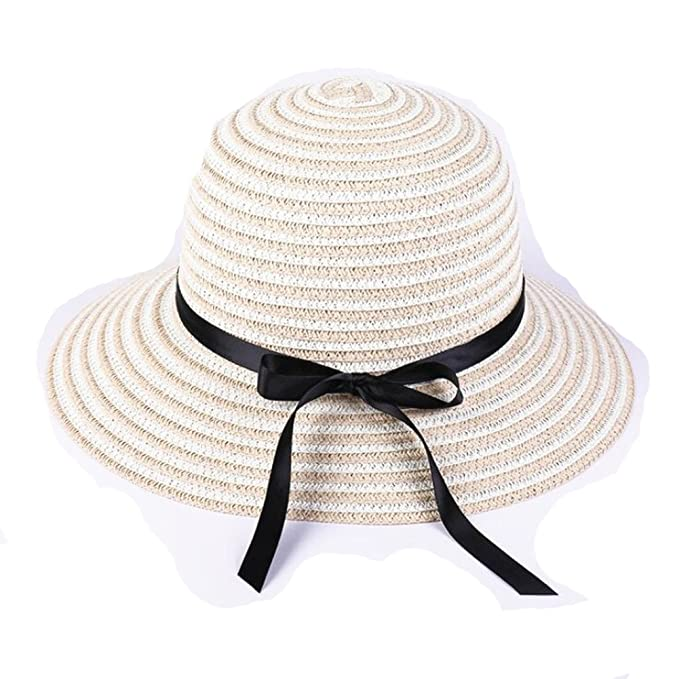 Fashion Bowknot Summer Sun Hat Women Straw Beach Brimmed Hat for Holiday at  Amazon Women s Clothing store  5b406f34e524