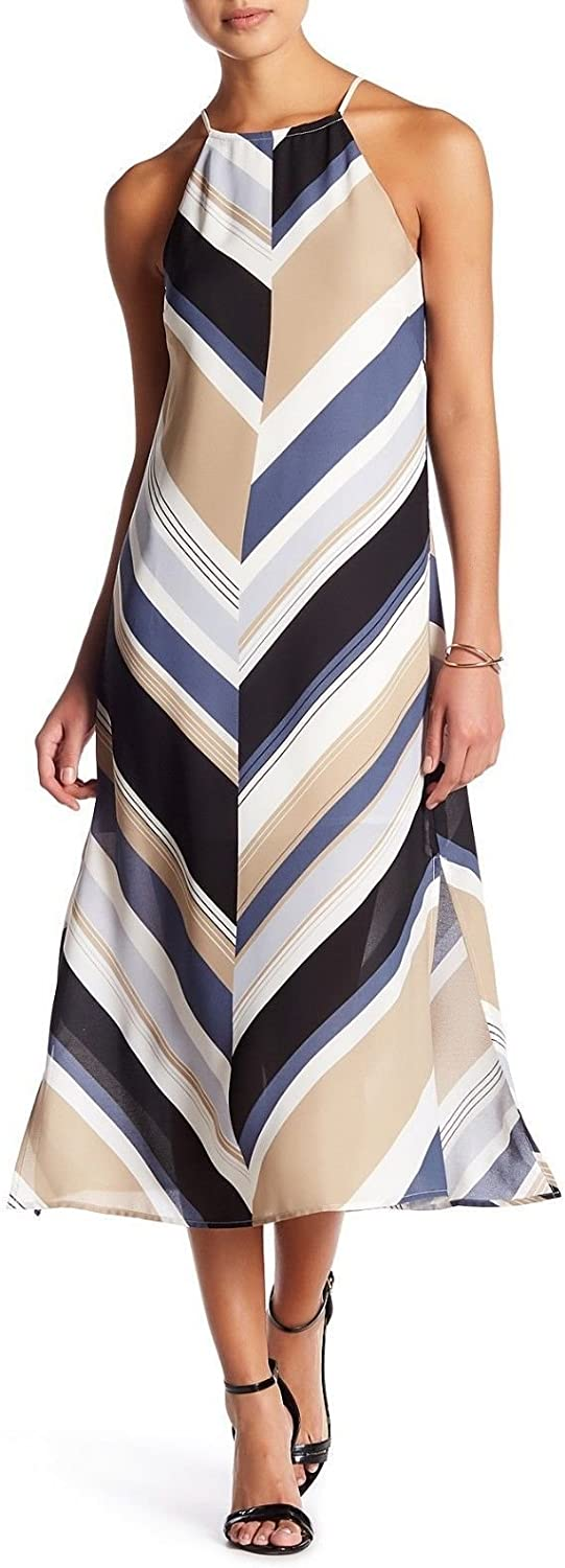 Laundy by Shelli Segal Laundry by Shelli Segal Lace Up Back Shift Petite Maxi Dress