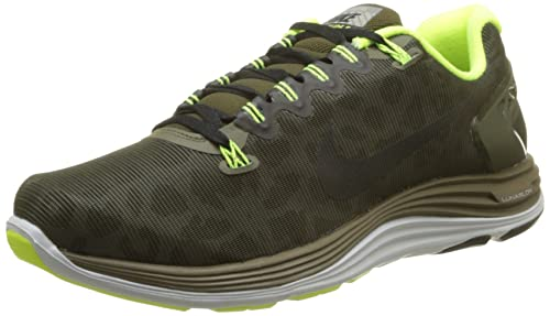 ea64cff9351a Nike lunarglide+ 5 shield mens running trainers 615969 307 sneakers shoes  plus dark loden black volt