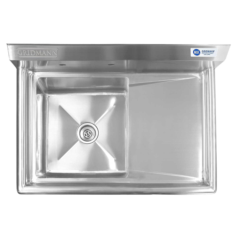 gridmann 1 partment nsf stainless steel mercial kitchen prep
