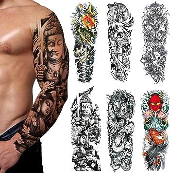 Tatuaje Temporal De Brazo Completo - (6 Fotos) Para Tatuaje De ...