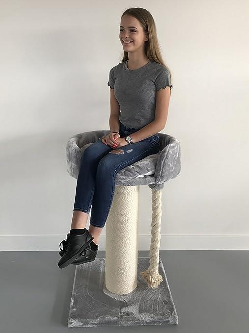 Rascador para gatos grandes Chartreux Gris claro arbol xxl maine coon gato gigante sisal muebles sofa casa escalador casita escalador torre Árboles rascadores cama cueva repuesto medianos: Amazon.es: Productos para mascotas