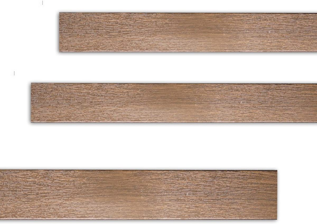 Fensterleiste Nussbaum 50 mm breit 6m lang Flachleiste Abdeckleiste Dekor Leiste farbig
