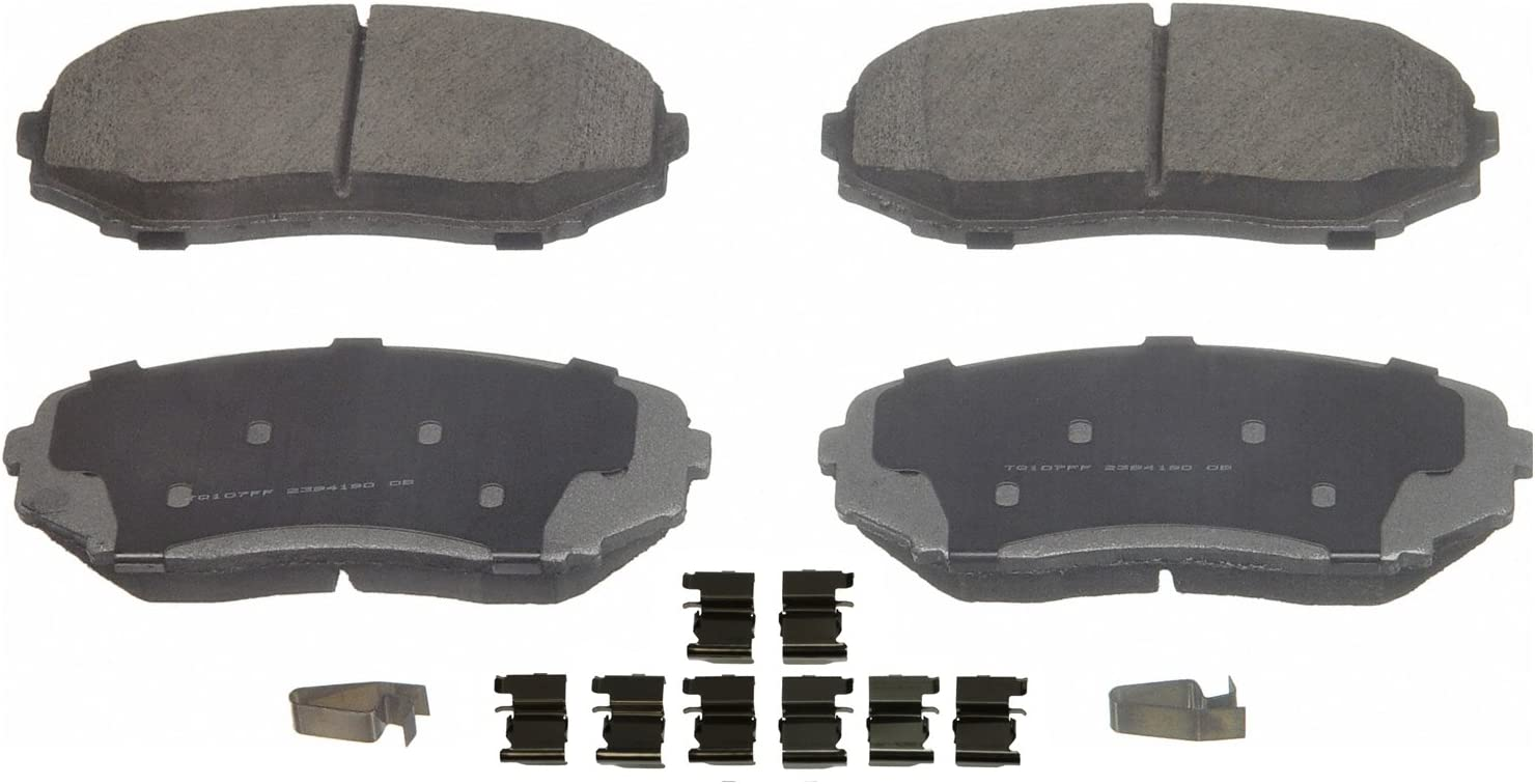Disc Brake Pad Set-ThermoQuiet Disc Brake Pad Front Wagner QC1258