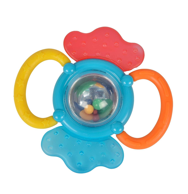 SIMBA ABC Formenrasseln Baby Rassel Spielzeug Blau Gelb Rot Grün 8-10 cm