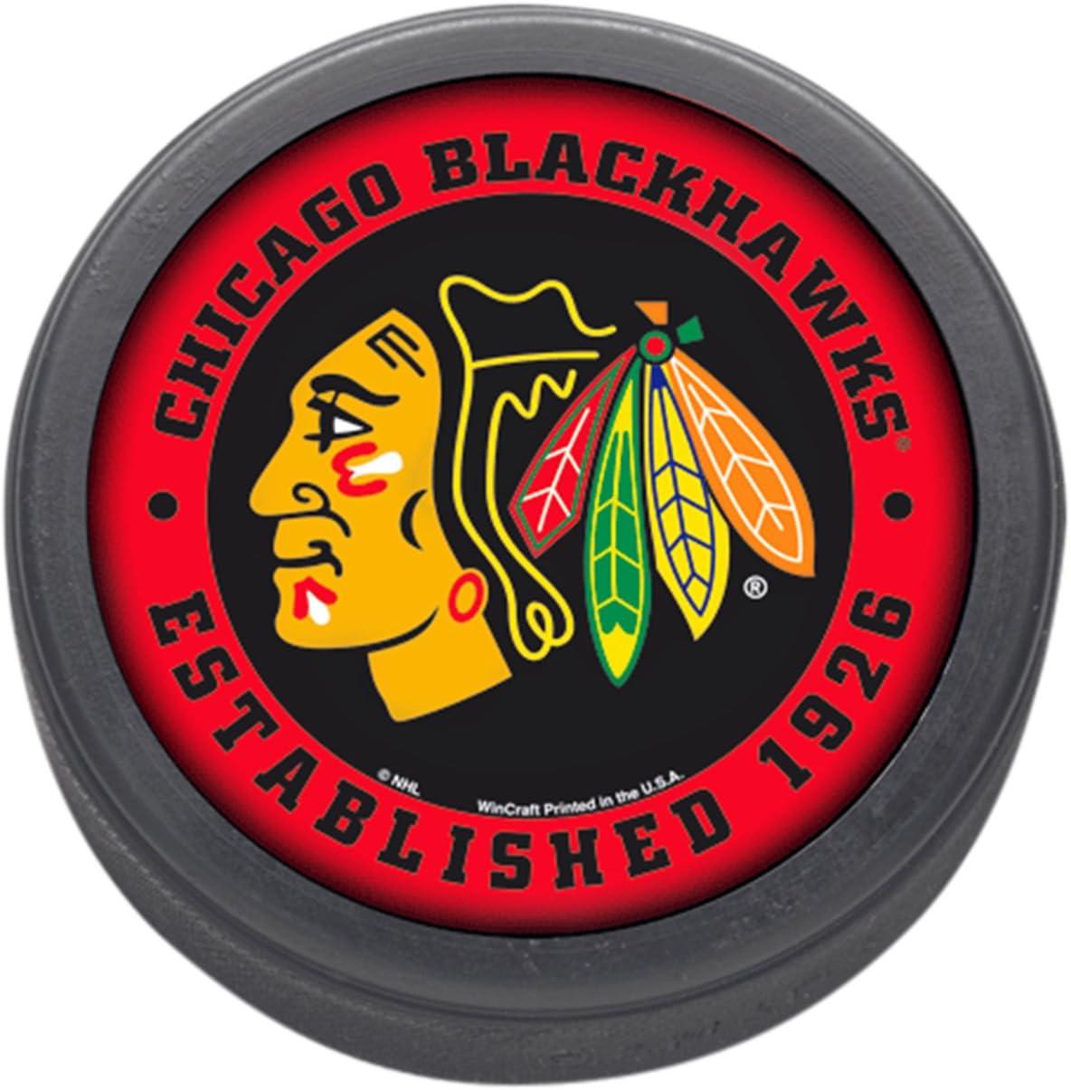 WinCraft NHL Chicago Blackhawks Hockey Puck : Sports Fan Hockey Pucks : Sports & Outdoors