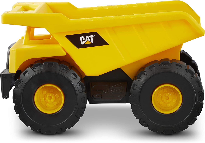 Autocarro con cassone Ribaltabile Cat Tough Machines Veicolo da Costruzione 82285 Nero Caterpillar by Funrise- Camion della Spazzatura Caterpillar Colore Giallo