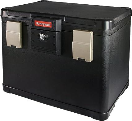 Caja Ignifuga para Documentos, Impermeable Incombustible Caja para DIN A4, incluye 6 archiveros, carpetas y bolsas colgantes, 40,7 x 32 x 32,9 cm: Amazon.es: Oficina y papelería