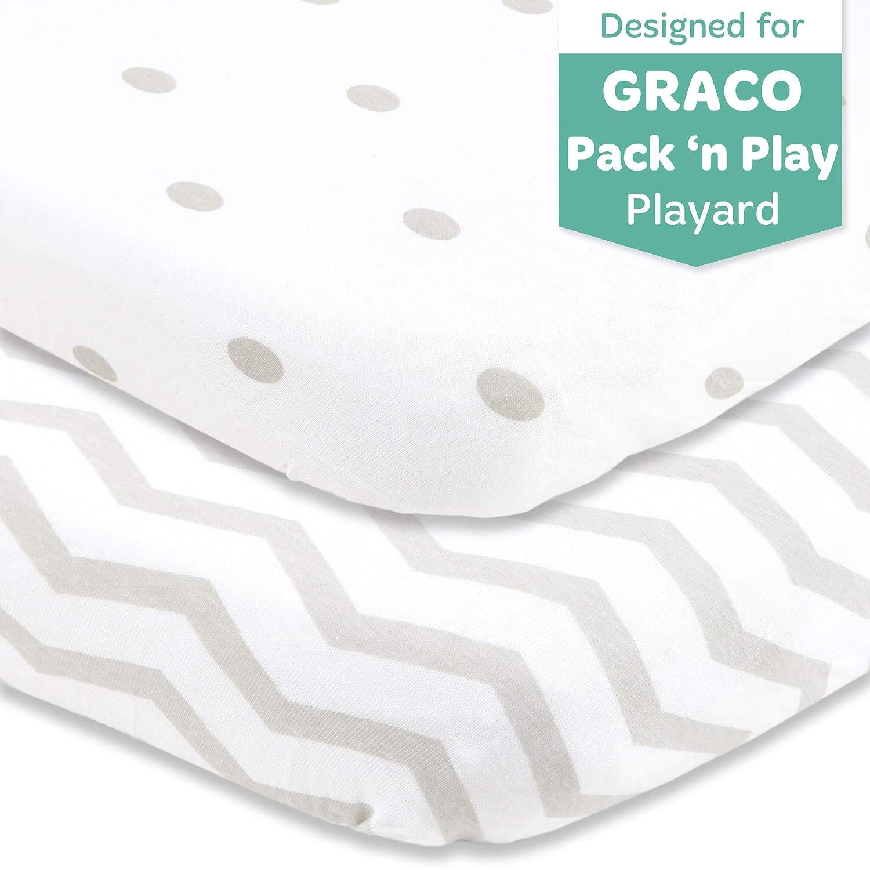 "24 x 38/"" Mini Cribs Pack n Play Fitted Playard Sheets 27 x 39/"" Graco Pair"